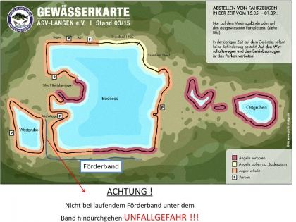 Gewässerkarte Waldsee 2015